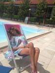 Belen Rodriguez in Bikini da Facebook, Maggio 2013-2